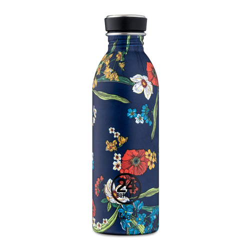24 Bottles - Super-lightweight Urban Water Bottle - 500ml - Denim Bouquet