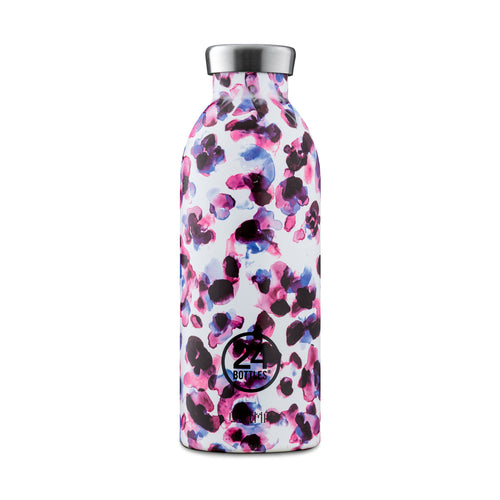 24 Bottles - CLIMA insulated Bottle - 500ml - Purple Cheetah Print