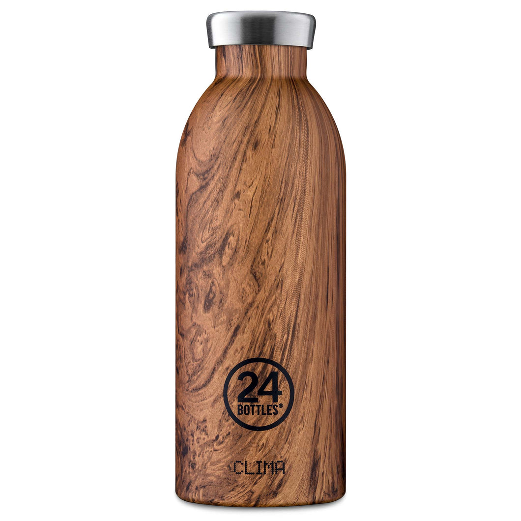 24 Bottles - CLIMA Insulated Bottle - 500ml - Sequoia Wood