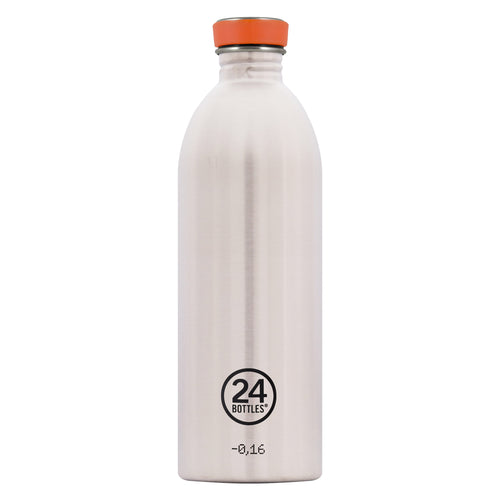 24bottles Super-lightweight Urban Water Bottle - 1L - Steel