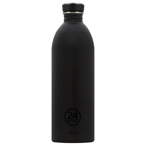 24bottles Super-lightweight Urban Water Bottle - 1L - Tuxedo Black