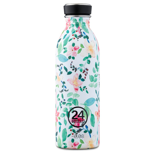 24 Bottles - Super-lightweight Urban Water Bottle - 500ml - Little Buds Print