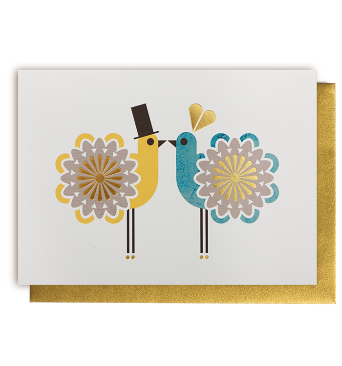 Kelly Hyatt (Petit Atelier) - Two Wedding Birds Card