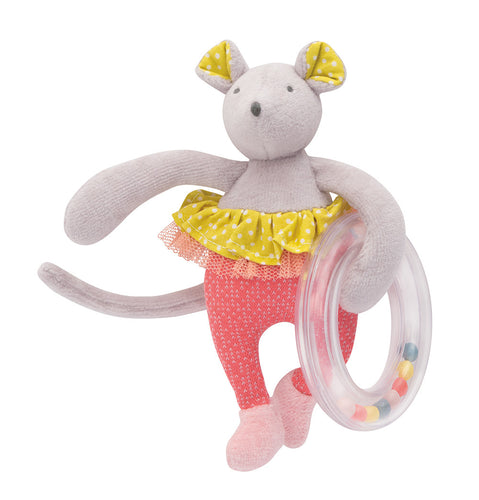 Moulin Roty - Mouse with ring rattle