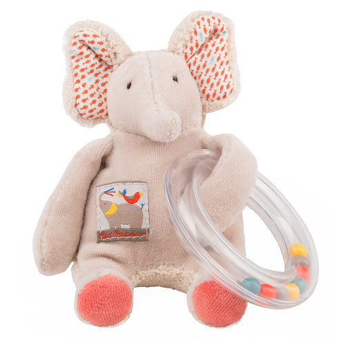 Moulin Roty - Elephant bead rattle