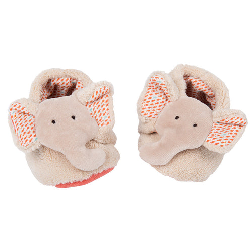 Moulin Roty - Elephant baby slippers