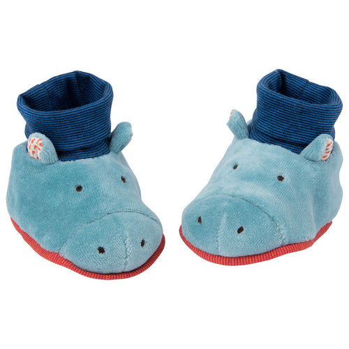 Moulin Roty - Hippo baby slippers