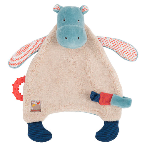 Moulin Roty - Hippo pacifier comforter