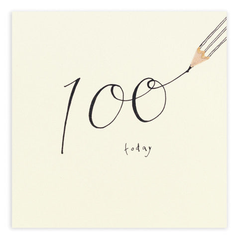 Ruth Jackson - 100th Birthday - Pencil Shavings Card