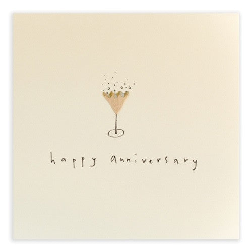Ruth Jackson - Anniversary Fizz - Pencil Shavings Card