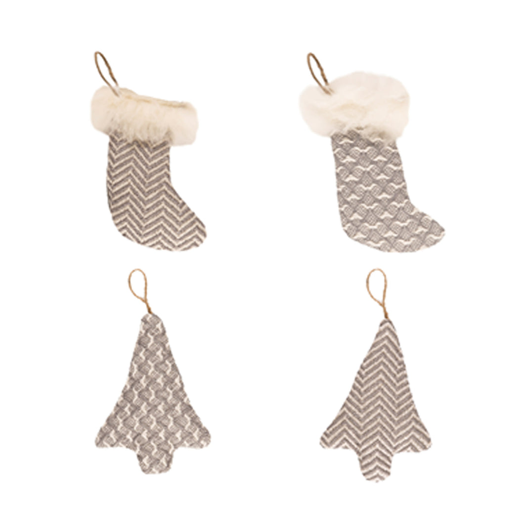 Adriana Christmas Decorations Woven Wool grey