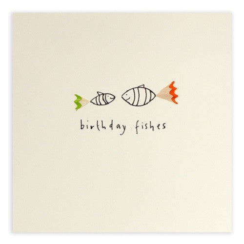 Ruth Jackson - Birthday Fishes - Pencil Shavings Card