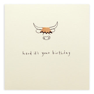 Ruth Jackson - Birthday Highland Cow - Pencil Shavings Card
