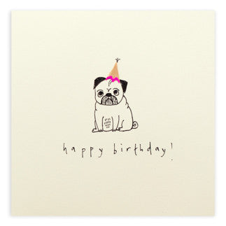 Ruth Jackson - Birthday Pug - Pencil Shavings Card