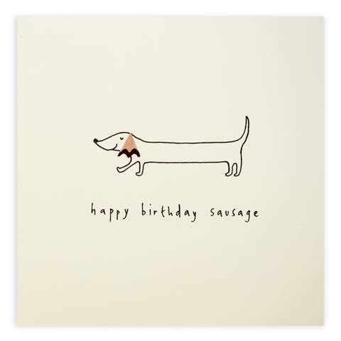 Ruth Jackson - Birthday Sausage Dog - Pencil Shavings Card