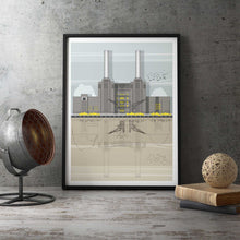 Battersea Power Station Print framed
