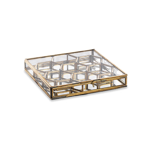 Bequai Honeycomb Box - Antique Brass - Small