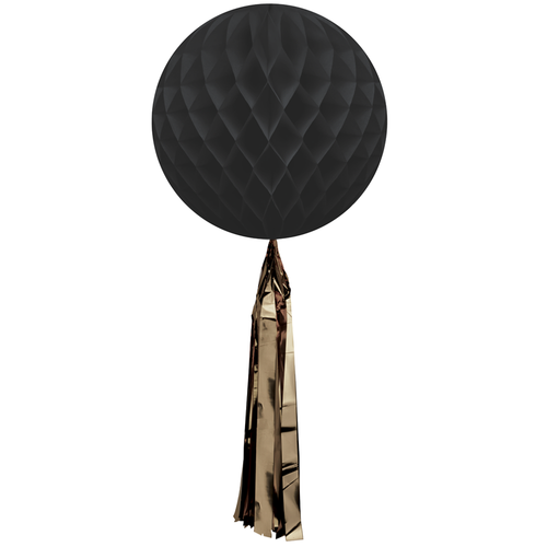 Delight Department - Black Honeycomb Ball With Tassel