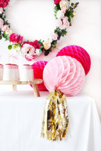 Delight Department - Pink Honeycomb Ball With Tassel