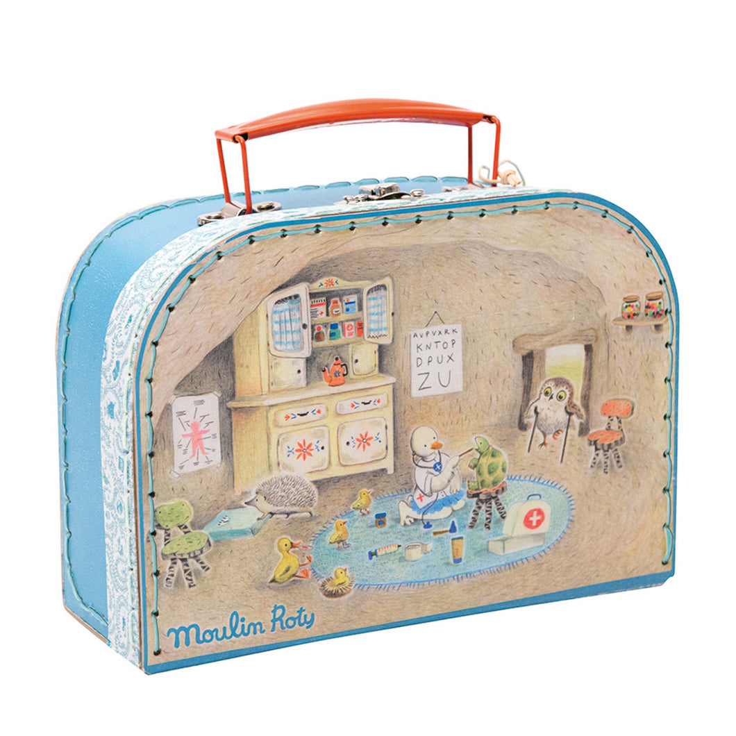 Doctors suitcase with wooden toys