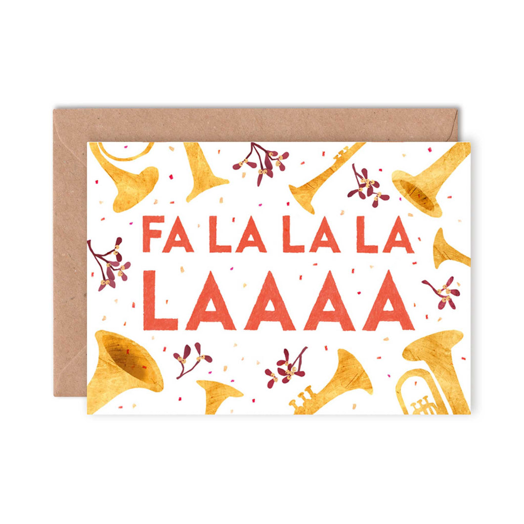 Emily Nash Illustration - Fa La La La La Christmas Card