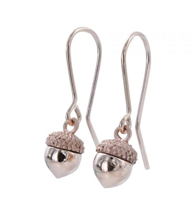 Reeves & Reeves - Acorn Earring Rose Gold