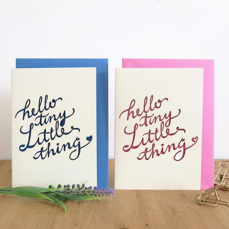 Chau Art - Hello little thing card - pink