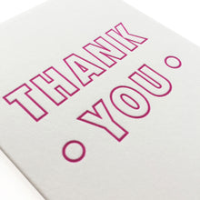 GC72 thank you card letterpress handmade modern typography mini small A7 HERO 1