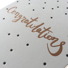 over the c. - Polka dot congratulations card