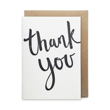 GCT7 thank you card letterpress handmade handwritten script