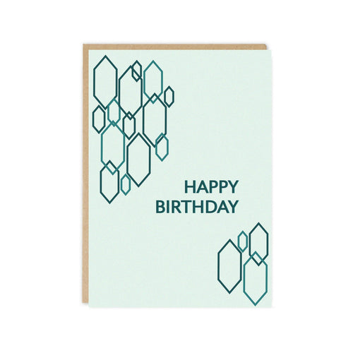 Tor Grey Happy Birthday Hexagons Card