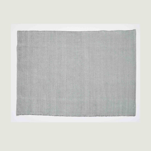 Herringbone Dove Grey Medium Recycled Bottle Rug