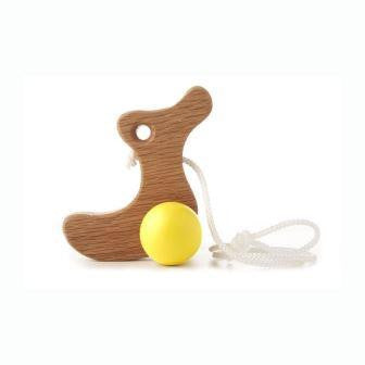 Hop & Peck - Duckling Pull Along Toy - yellow