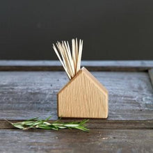 Hop & Peck - Oak House Matchstick or Cocktail Stick Holder