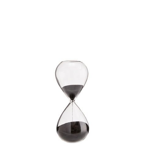 Hourglass with black sand 1 minutes timer