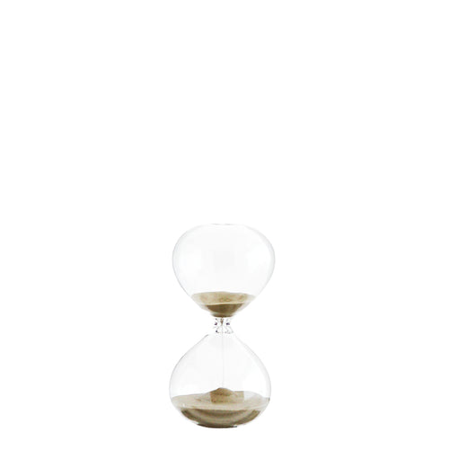 Hourglass with light brown sand 15 minutes timer