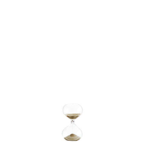 Hourglass with light brown sand 5 minutes timer