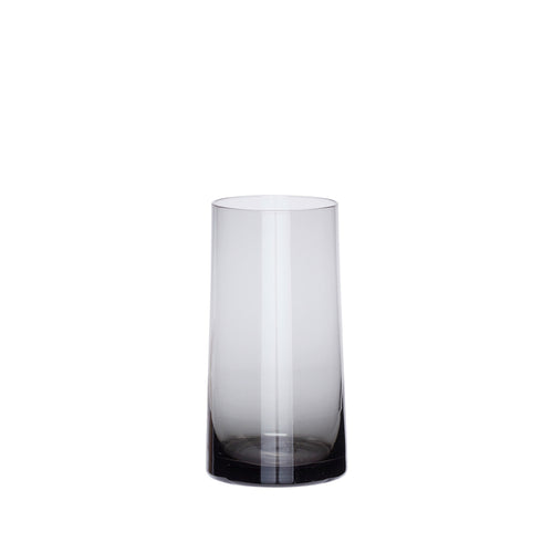 Hubsch - Grey smoke slanted side glass vase
