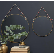 Kiko Round Mirror - Antique Brass - pair