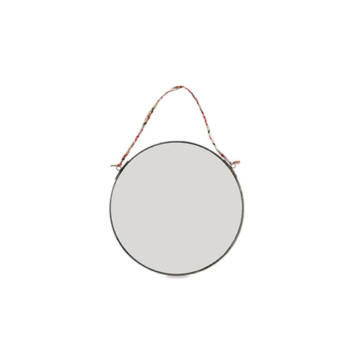 Kiko Round Mirror - Antique Zinc - Small