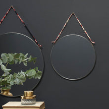 Kiko Round Mirror - Antique Zinc - wall lifestyle