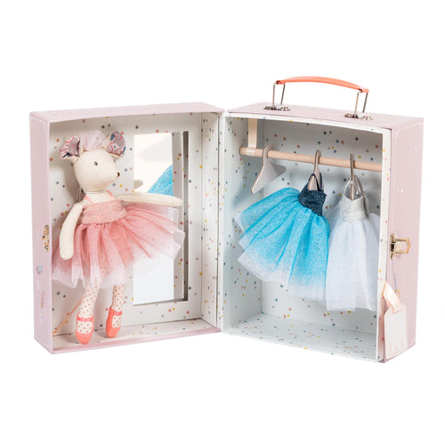 Lala the ballerina mouse tutu wardrobe suitcase with mirror