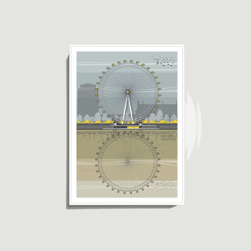 Linescapes - London Eye A4 Giclee Print