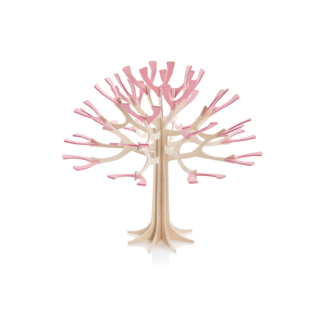 Lovi - Season Tree - Small - Natural wood / Cherry Pink