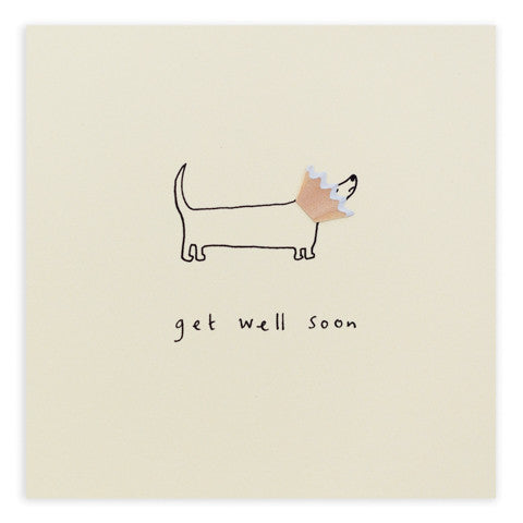 Ruth Jackson - Get Well Dog Cone - Pencil Shavings Card