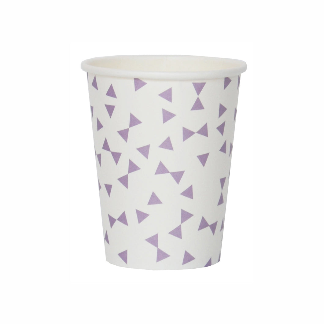 My Little Day - Purple triangle paper cups pack 8 - 265ml