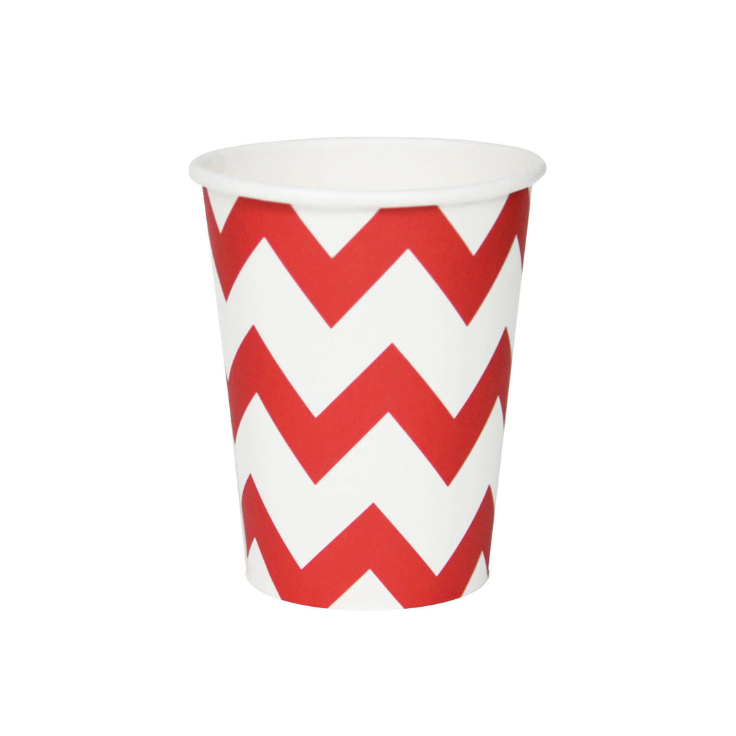 My Little Day - Red chevron paper cups pack 8 - 265ml