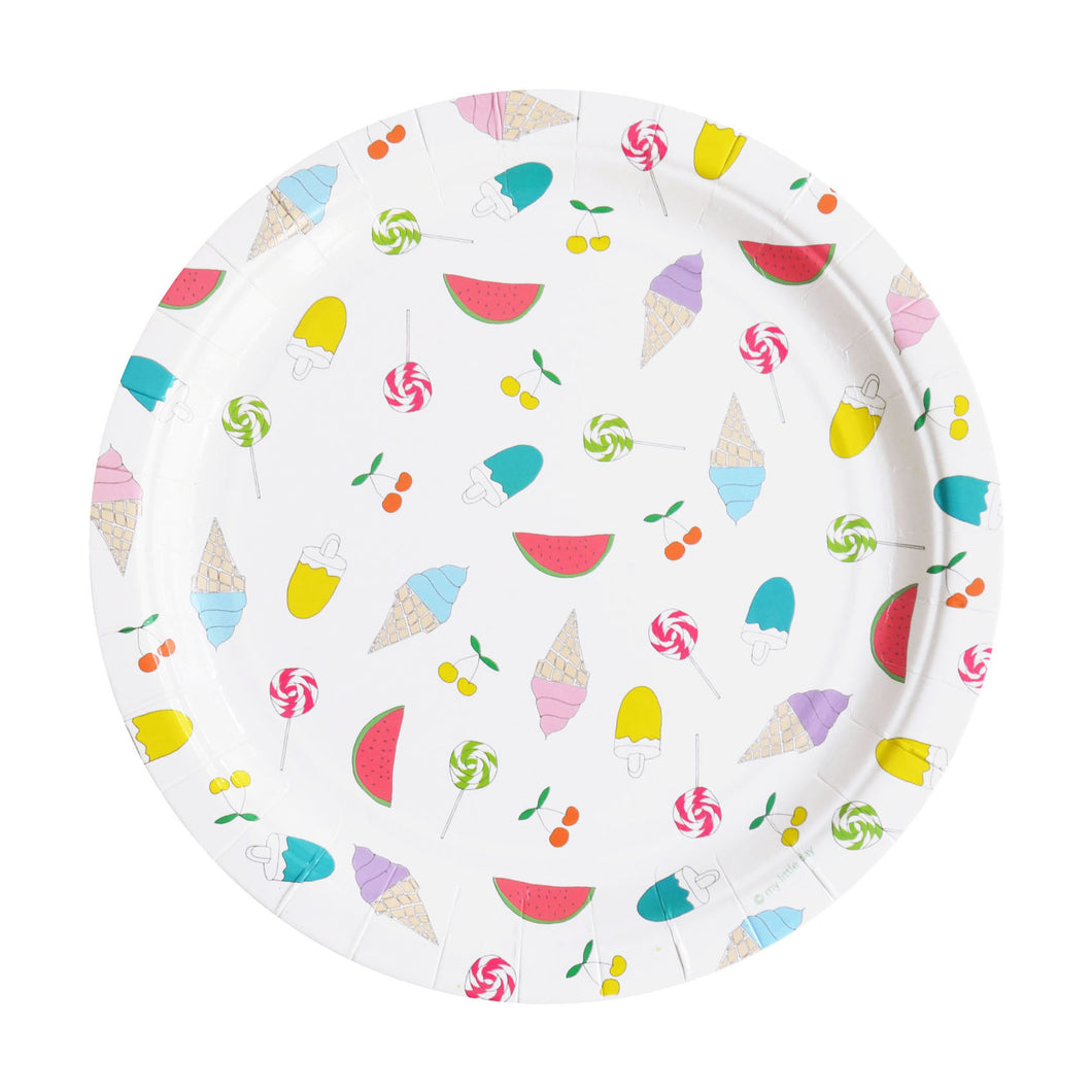 My Little Day - Summertime paper plates pack 8 - 23cm