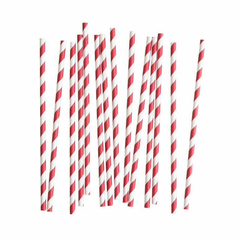 My Little Day - Red and White paper straws pack 25