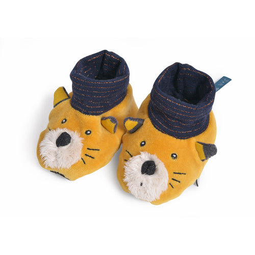 Moulin Roty - Les Moustaches - Lulu yellow slippers